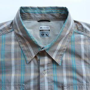 Columbia Titanium Mens Shirt Size L Plaid